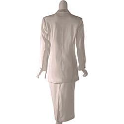 GMI Women's Ivory Skirt Suit - Thumbnail 1
