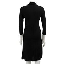 Jones New York Women's V-neck Sweater Dress - Thumbnail 1