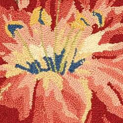 Safavieh Hand-hooked Floral Black Wool Rug (1'8 x 2'6) - Thumbnail 1