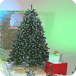 Decorated 7-foot Artificial Christmas Tree