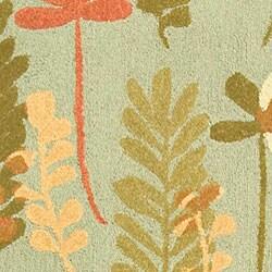 Safavieh Handmade Ferns Contemporary Light Blue Wool Runner (2'6 x 10') - Thumbnail 1