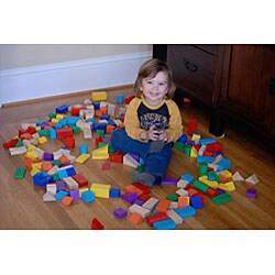 KidKraft 200-piece Wooden Mosaic Block Set - Thumbnail 1