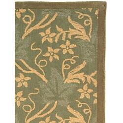 Safavieh Handmade Oasis Blue Wool Rug (8'9 x 11'9) - Thumbnail 1