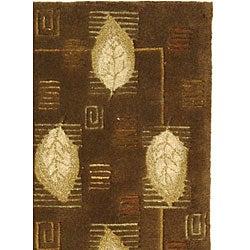Safavieh Handmade Foliage Sage Wool Rug (2'9 x 4'9) - Thumbnail 1