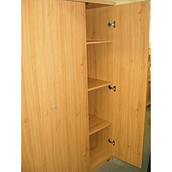 3-door Pear Finished Armoire