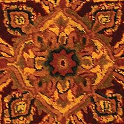 Safavieh Handmade Classic Heriz Gold/ Red Wool Rug (3' x 5') - Thumbnail 1