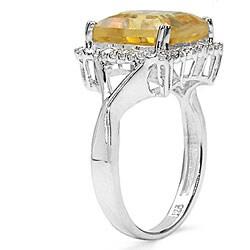 Malaika Glimmering 4.00ctw Genuine Citrine Silver Ring - Thumbnail 1