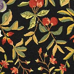Safavieh Hand-hooked Garden Black Wool Rug (8'9 x 11'9) - Thumbnail 1