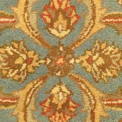 Safavieh Handmade Heritage Timeless Traditional Blue/ Beige Wool Rug (2' x 3') - Thumbnail 1