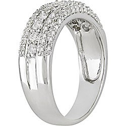 Miadora 14k Gold 3/4ct TDW Diamond 3-row Ring - Thumbnail 1