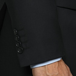 GiogioMen's Solid Navy 3-button Suit - Thumbnail 1