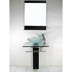 Pedestal Bathroom Vanity with Solid Wood Stand
