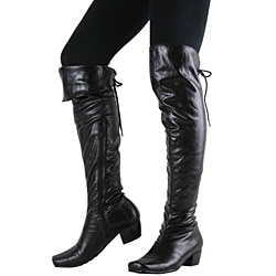 Beston Women's Low-heel Motorcycle Boots - Thumbnail 1