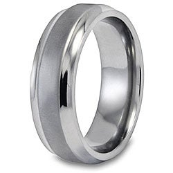 West Coast Jewelry Men's Titanium Brushed and Polished Ring (7mm ) - Thumbnail 1