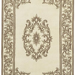 Hand-knotted Bengali Collection Wool Rug (8'3 x 11'6) - Thumbnail 1