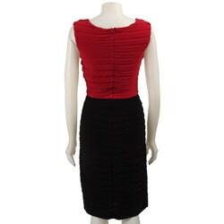 Scarlett Nite Women's Shutter-pleated Matte Jersey Dress