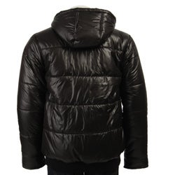Guess Men S Hooded Bubble Jacket Free Shipping Today