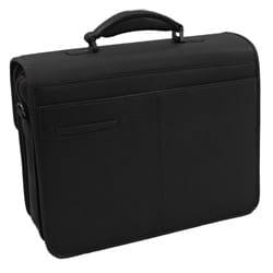 Bacara Deluxe Black European Leather Laptop Case - Thumbnail 1