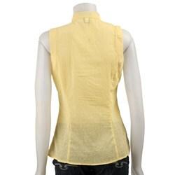 FINAL SALE Spense Women's Swiss Dot Stand Collar Shirt