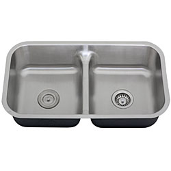 Ticor Stainless Steel 16-gauge Low Divide Undermount Kitchen Sink - Thumbnail 1