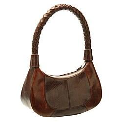 Nina Raye Brown Two-tone Handbag