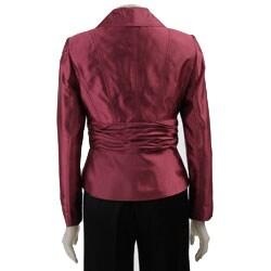 Larry Levine Women's Shantung Pant Suit - Thumbnail 1