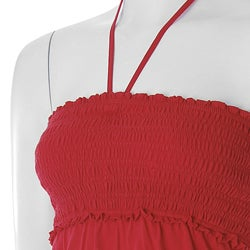 Fashion 70s Brand Junior's Smocked Knit Halter