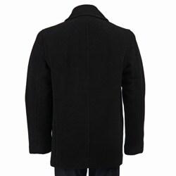 Marc New York Men's 'Murphy' Italian Wool Blend Black Peacoat - Thumbnail 1