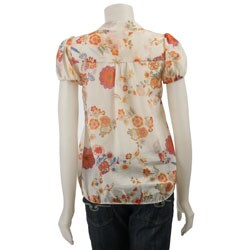 MLA11975633 renee c women's printed short sleeve shirt free shipping on,Renee C Womens Clothing