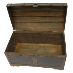Phat Tommy Victorian Decorative Wooden Storage Trunk