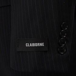 Claiborne Men's Navy Multistripe Wool 2-button Athletic Cut Suit - Thumbnail 1