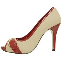 Adi Designs Women's 'Casey' Peep Toe Pumps - Thumbnail 1