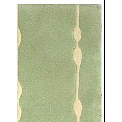 Safavieh Handmade Soho Vines Mint Green New Zealand Wool Rug (2' x 3') - Thumbnail 1