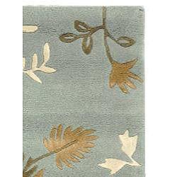 Safavieh Handmade Soho Twigs Light Blue New Zealand Wool Rug (2' x 3') - Thumbnail 1