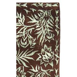 Safavieh Resorts Chocolate/ Aqua Blue Rug (2'6 x 4'2) - Thumbnail 1