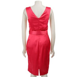 Thumbnail 2, Ellen Tracy Women's Sleeveless Stretch Satin Dress. Changes active main hero.