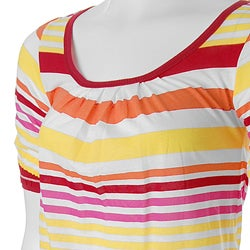 Pout Brand Junior's Striped Scoop-neck Top