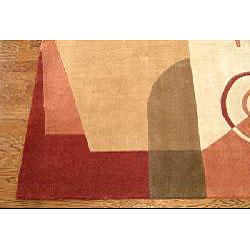 Safavieh Handmade Rodeo Drive Modern Abstract Rust/ Multi Wool Rug (3'6 x 5'6)