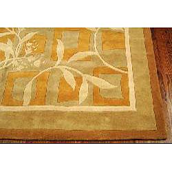 Safavieh Handmade Rodeo Drive Transitional Gold/ Ivory Wool Rug (9'6 x 13'6) - Thumbnail 1