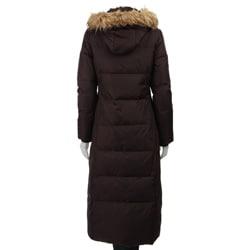 MICHAEL Michael Kors Women's Long Hooded Down Coat - Free Shipping ...