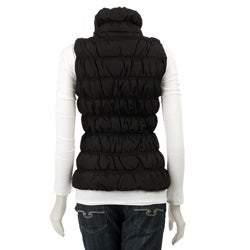 Thumbnail 2, MICHAEL Michael Kors Women's Ruched Slim-fit Down Vest. Changes active main hero.