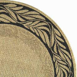 Safavieh Tranquil Natural/ Terracotta Indoor/ Outdoor Rug (5'3 Round) - Thumbnail 1