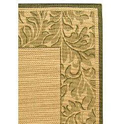 Safavieh Paradise Natural/ Olive Green Indoor/ Outdoor Rug (5'3 x 7'7) - Thumbnail 1