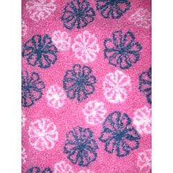 Flower Power Fleece Throw Blanket - Thumbnail 1