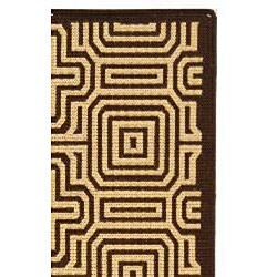 Safavieh Matrix Chocolate/ Natural Indoor/ Outdoor Rug (7'10 x 11') - Thumbnail 1