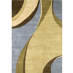 Alliyah Handmade Multi Color New Zealand Blend Wool Rug (5' x 8') - Thumbnail 1