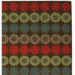 Martha Stewart by Safavieh Solar Garden Mulberry Wool Rug (5'6 x 8'6) - Thumbnail 1