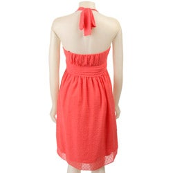 Max & Cleo Women's Ruffle Halter Dress - Thumbnail 1