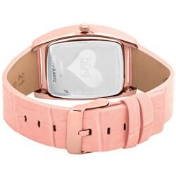 Burgi Women's 'Heart O' Diamonds' Quartz Diamond Watch - Thumbnail 1