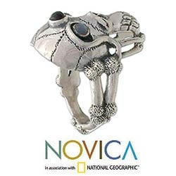 Sterling Silver 'Immortal' Skull Ring (Size 10) (Indonesia)